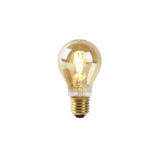 LED lamp A60 E27 2W 2200K goud spiraal filament