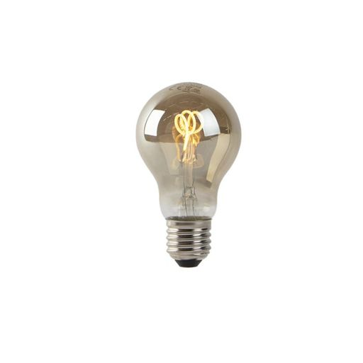 LED lamp A60 E27 2W 2200K smoke spiraal filament