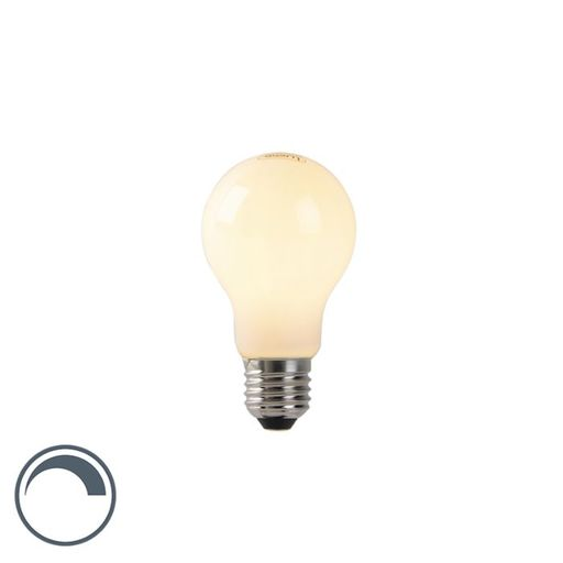LED lamp A60 E27 4W 2200K opaal flame filament dimbaar