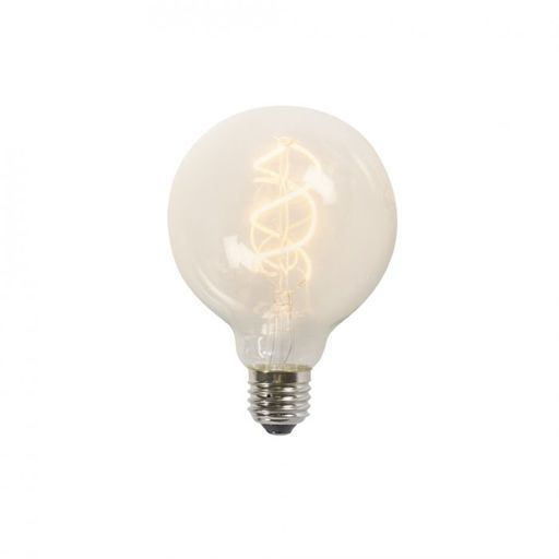 Gedraaid filament LED lamp G95 5W 2200K helder