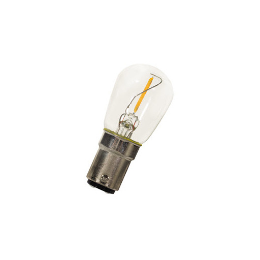 Afbeelding van Bailey Led filament p26x58 ba15d 240v 0.5w 2700k clear LED-lamp