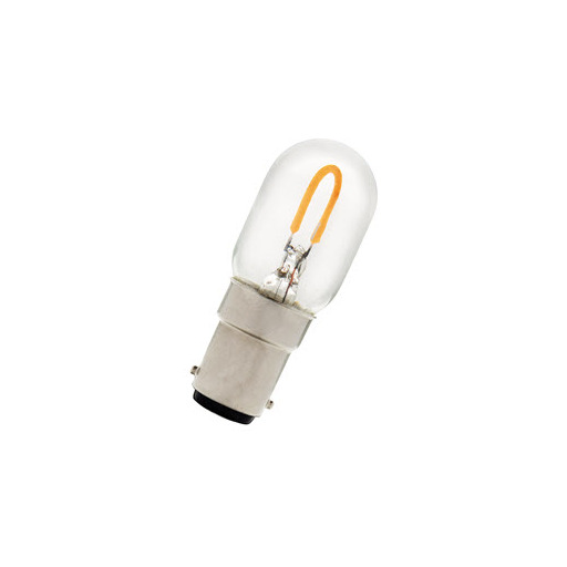 Afbeelding van Bailey Led u-filament t22x57 ba15d 240v 1w 2700k clear LED-lamp