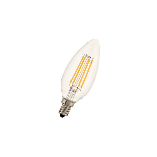 Afbeelding van Bailey Led filament c35 e12 240v 3w 2700k clear LED-lamp