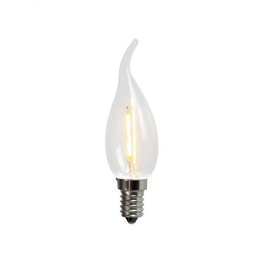 LUEDD Filament LED lamp C35T E14 1W 2200K helder