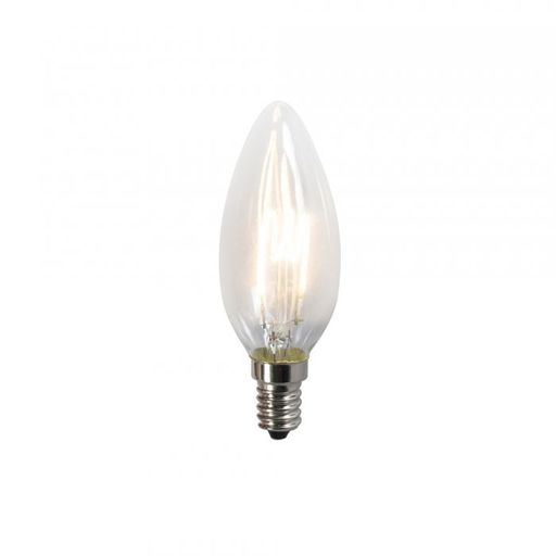 Gedraaid filament LED lamp C35 2W 2200K helder