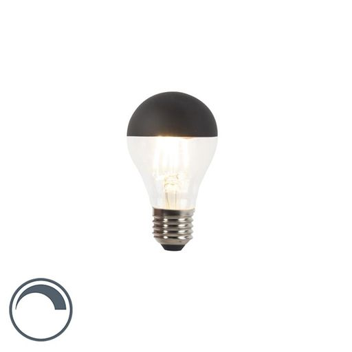 Dimbare LED kopspiegel zwart A60 E27 4W warm wit 2700K