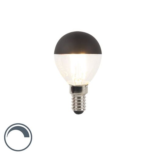 Dimbare LED kopspiegel zwart P45 E14 4W warm wit 2700