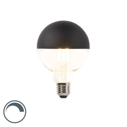 Dimbare LED kopspiegel zwart G95 E27 5W warm wit 2700K