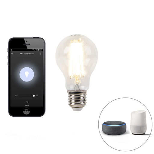 LUEDD E27 dimbare LED lamp Wifi Smart met app 7W 800lm 2700K