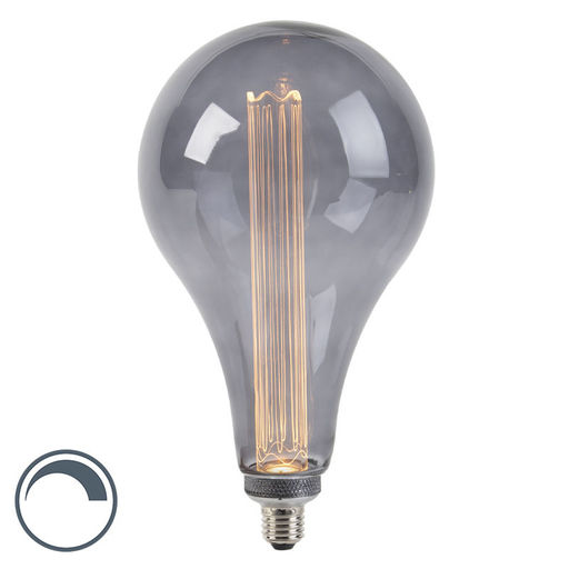 LUEDD LED lamp A165 E27 3,5W 2000K smoke dimbaar