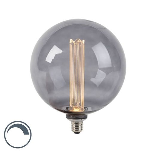 LED lamp G200 E27 3,5W 2000K smoke dimbaar