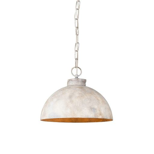 QAZQA Hanglamp Magna 35 classic taupe met ketting