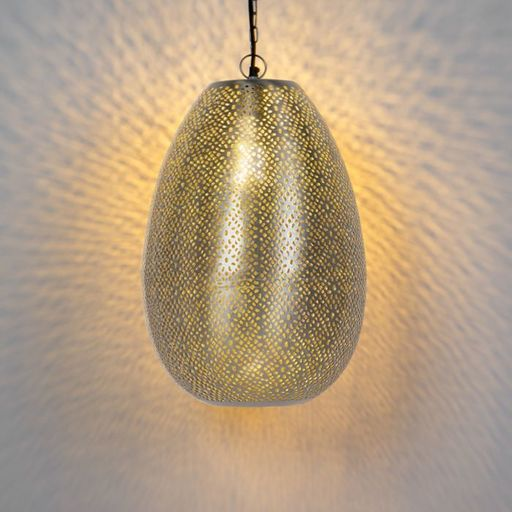Oosterse hanglamp staal Sinbad 1