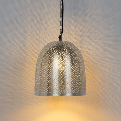 Oosterse hanglamp staal Sinbad 3