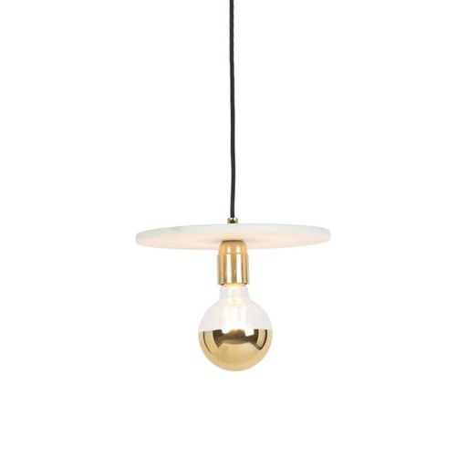 Chique hanglamp messing met marmer Disque