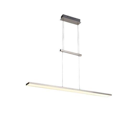QAZQA Moderne hanglamp staal incl. LED - Riley
