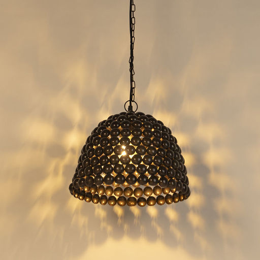QAZQA Vintage hanglamp 35cm staal - Lily