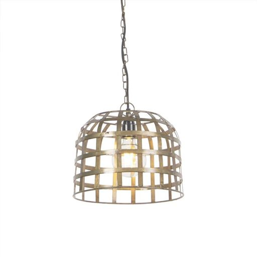 Industriele hanglamp 30cm brons Fence