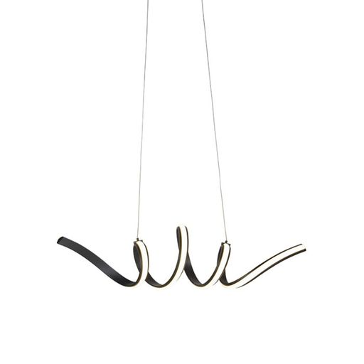 Design hanglamp zwart dimbaar incl. LED klein Twisted