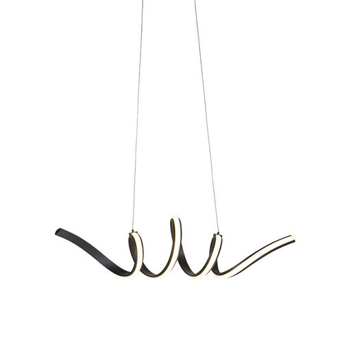 QAZQA Design hanglamp zwart dimbaar incl. LED klein - Twisted