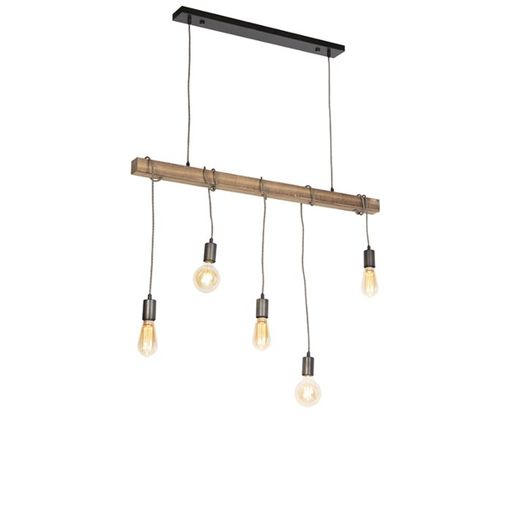 Industriele hanglamp zwart Gallow