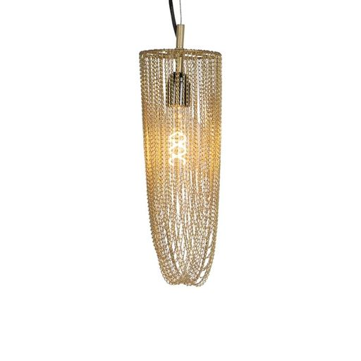 Oosterse hanglamp goud Catena Cabalto