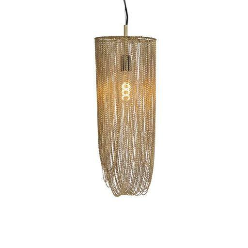 Oosterse hanglamp goud Catena Ferro