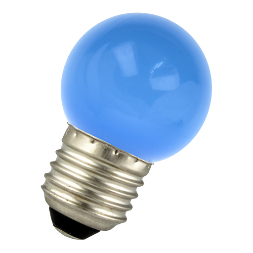LED Ball G45 E27 220-240V 1W Blue Bulk