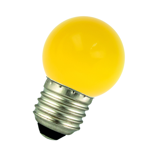 LED Ball G45 E27 220-240V 1W Yellow Bulk