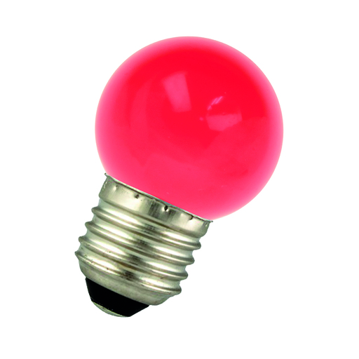 LED Ball G45 E27 220-240V 1W Red Bulk