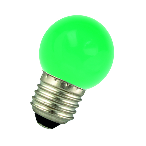 LED Ball G45 E27 220-240V 1W Green Bulk