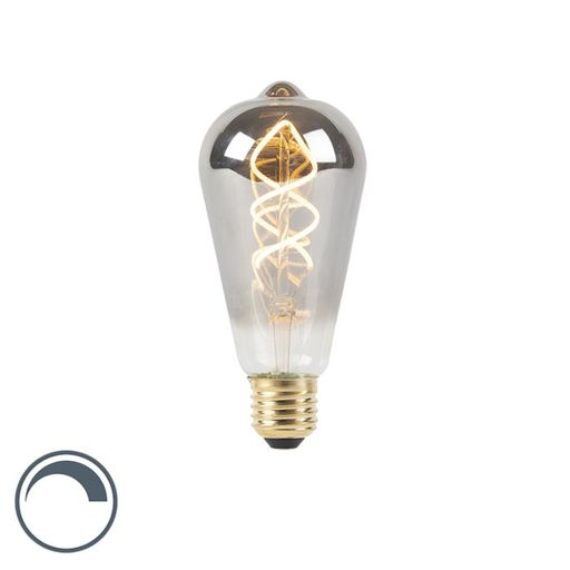 LED lamp ST64 E27 4W 2100K 160LM smoke spiraal filament dimbaar