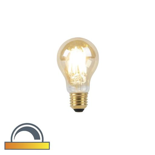 LED lamp E27 A60 8W 2000 2600K dim to warm goldline filament