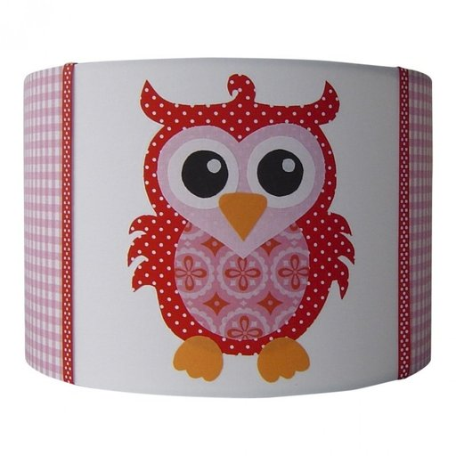 Kinderlamp uil sp rood
