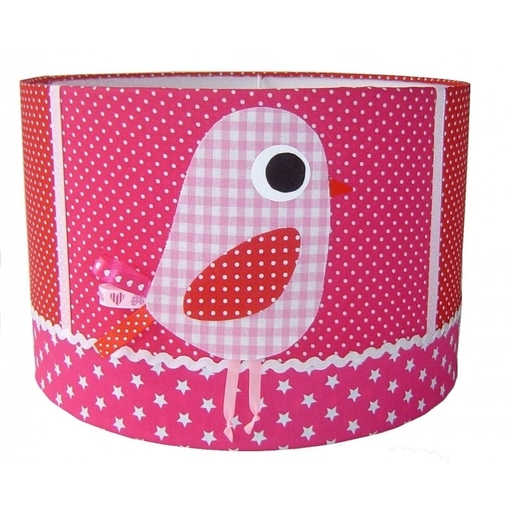 Kinderlamp vogel roze