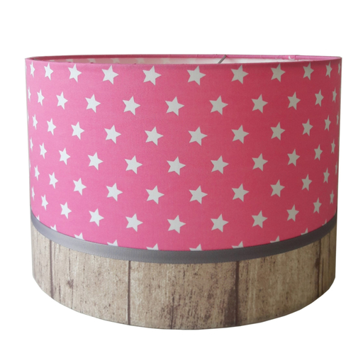 kinderlamp stars roze & wood