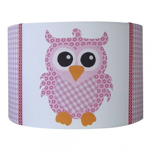 Kinderlamp uil sp roze