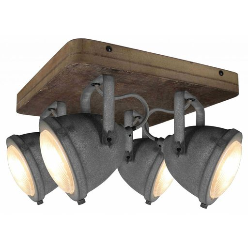 Afbeelding van Chericoni Bella Concrete&Vintage Wood 4 lights