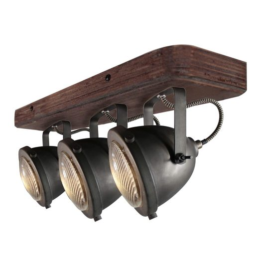 Afbeelding van Chericoni Bella Burned Steel & Vintage Wood 3 lights
