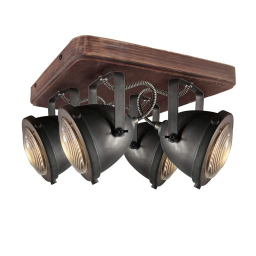 Afbeelding van Chericoni Bella Burned Steel & Vintage Wood 4 lights