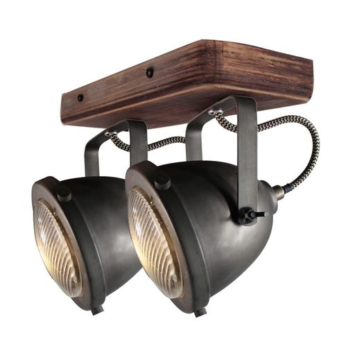 Afbeelding van Chericoni Bella Burned Steel & Vintage Wood 2 lights