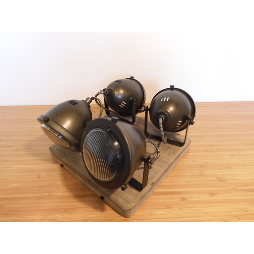 Foto van Chericoni Bella Burned Steel & Vintage Wood 4 lights