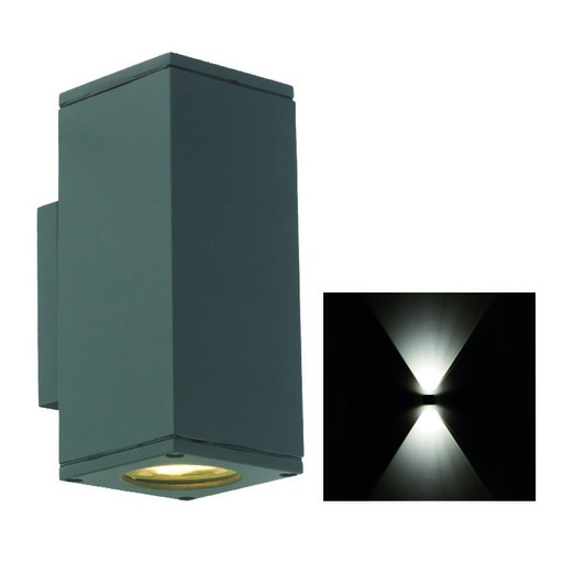 Afbeelding van Franssen Spotpro, up/down light, wand, 2xGU10, grafiet