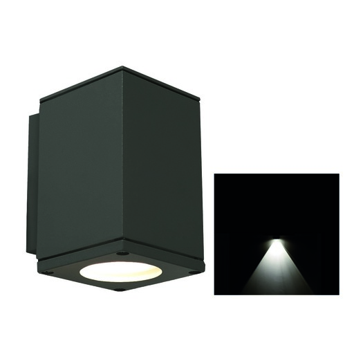 Afbeelding van Franssen Spotpro, down light, wand, GU10, grafiet