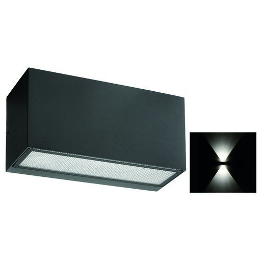Afbeelding van Franssen Vista wand grafiet up/down light, e27