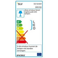Energielabel van SLV Led lightpoint wit 1xLED 3000k wand- of plafondlamp