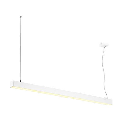Afbeelding van SLV Q-line single LED dali dimbaar 1500mm wit hanglamp