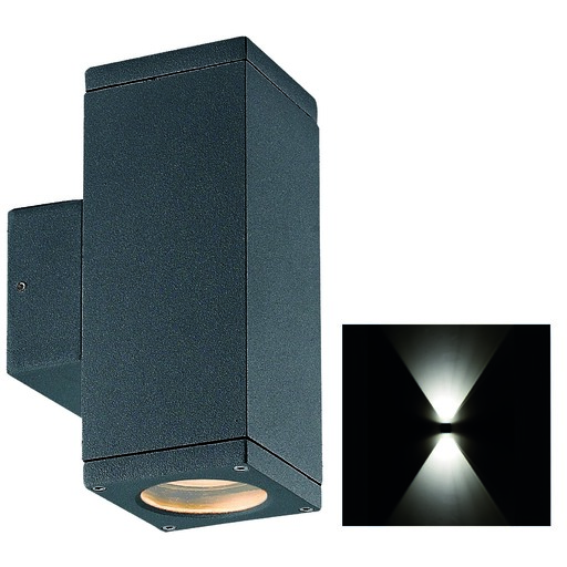 Afbeelding van Franssen Up/down light. Antraciet. 2x gu-10