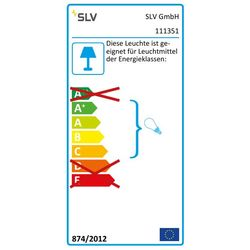 Energielabel van SLV New tria 1 mr16 square alu geb. 1xgx5,3 klemv. wand- of plafondlamp