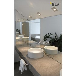 Foto van SLV New tria 1 mr16 square alu geb. 1xgx5,3 klemv. wand- of plafondlamp